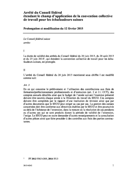 Accord complementaire 2015