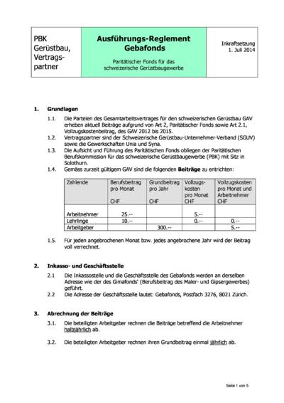 DE Ausführungsreglement DE Gebafonds 2014