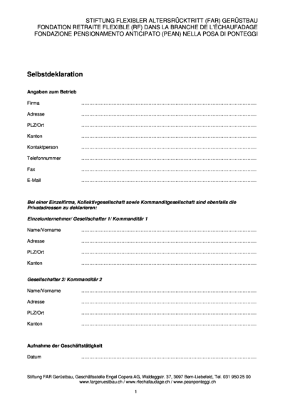 FAR Gerüstbau Neueintritt Selbstdeklaration dv2