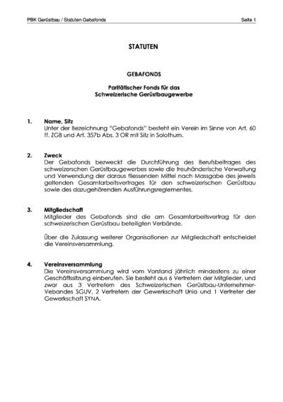DE SGUV gebafonds statuten